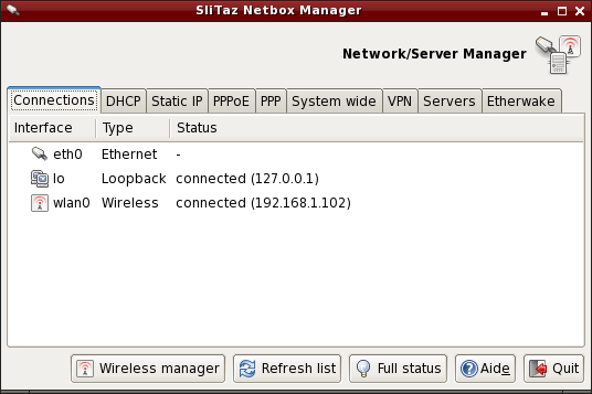 en:handbook:networkconf [SliTaz Doc]